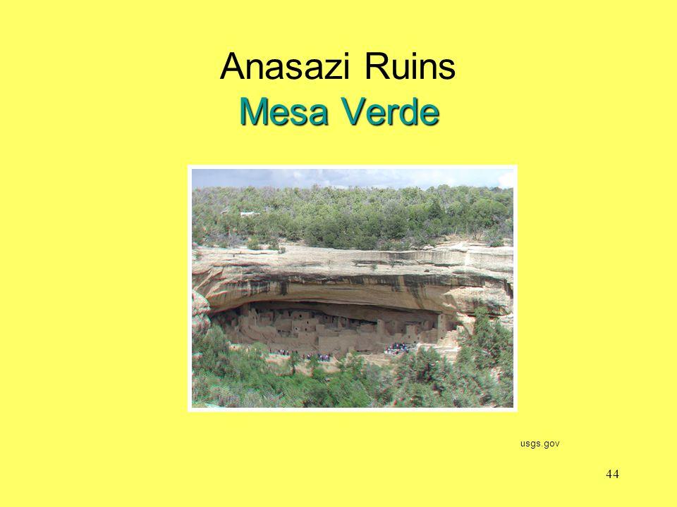 Mesa Verde Anasazi Ruins Mesa Verde usgs.gov 44