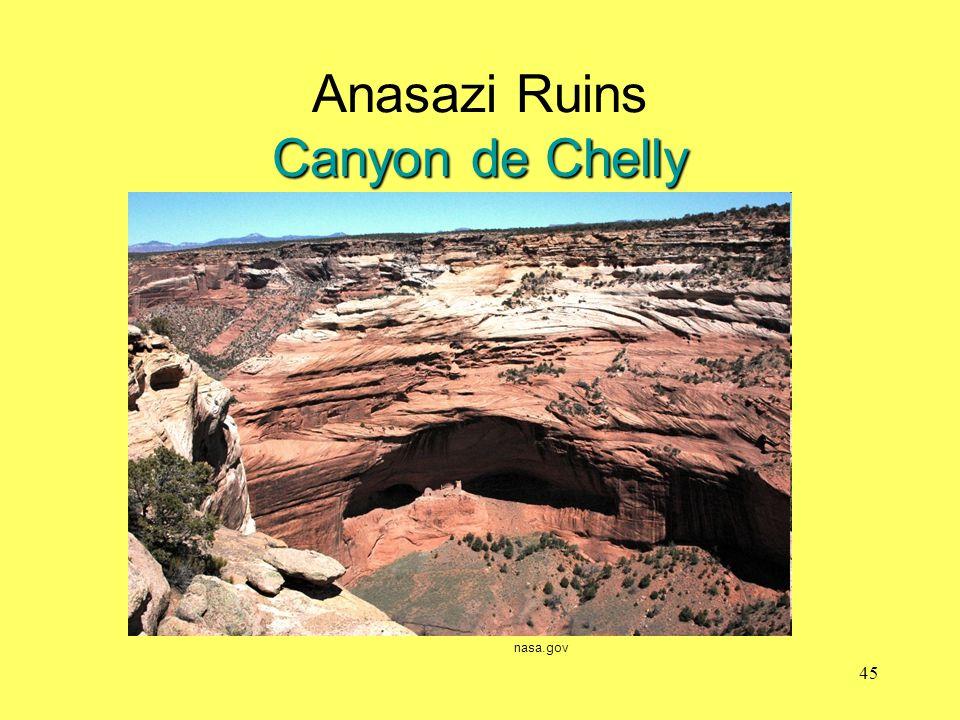 Canyon de Chelly Anasazi Ruins Canyon de Chelly nasa.gov 45
