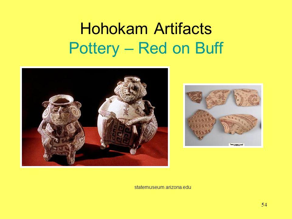Hohokam Artifacts Pottery – Red on Buff statemuseum.arizona.edu 54