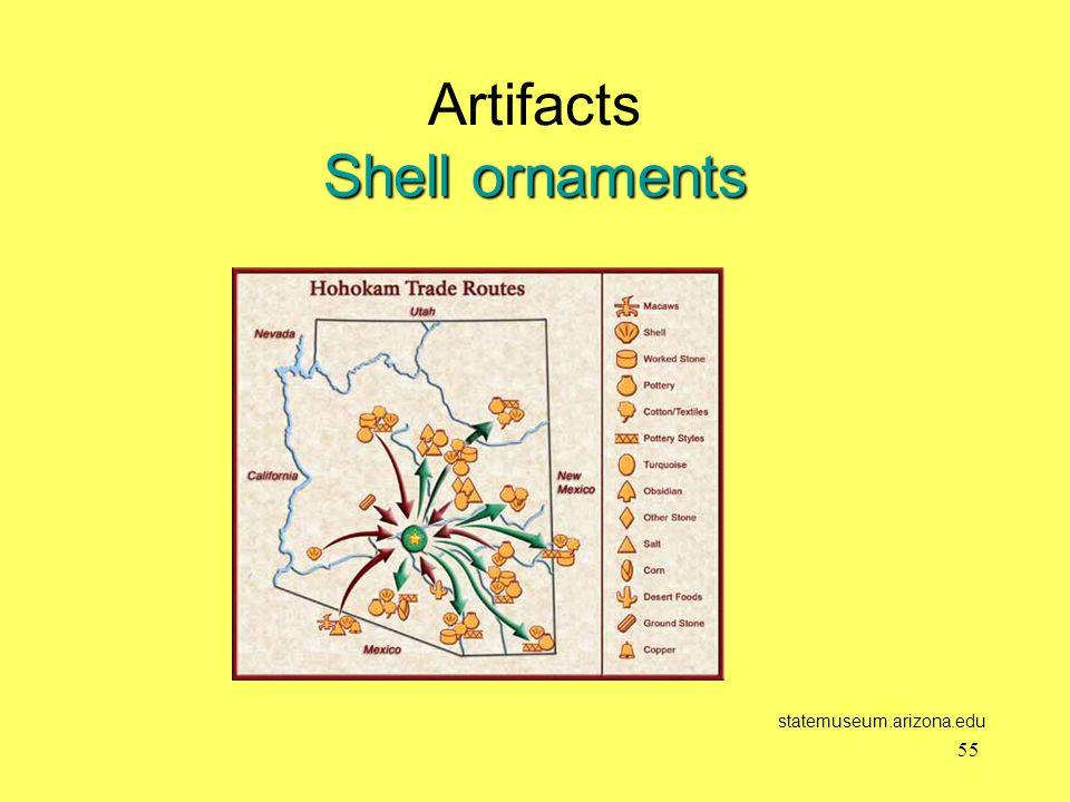 Shell ornaments Artifacts Shell ornaments statemuseum.arizona.edu 55
