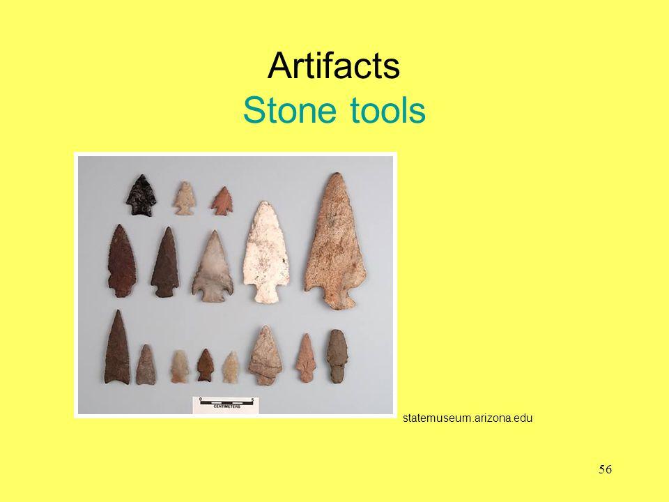 Artifacts Stone tools statemuseum.arizona.edu 56