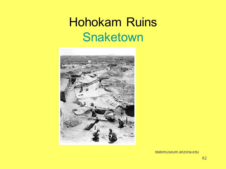 Hohokam Ruins Snaketown statemuseum.arizona.edu 62