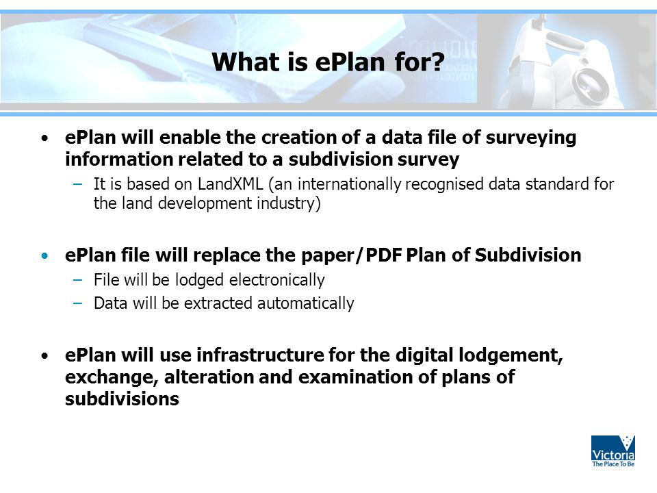 What is ePlan for.