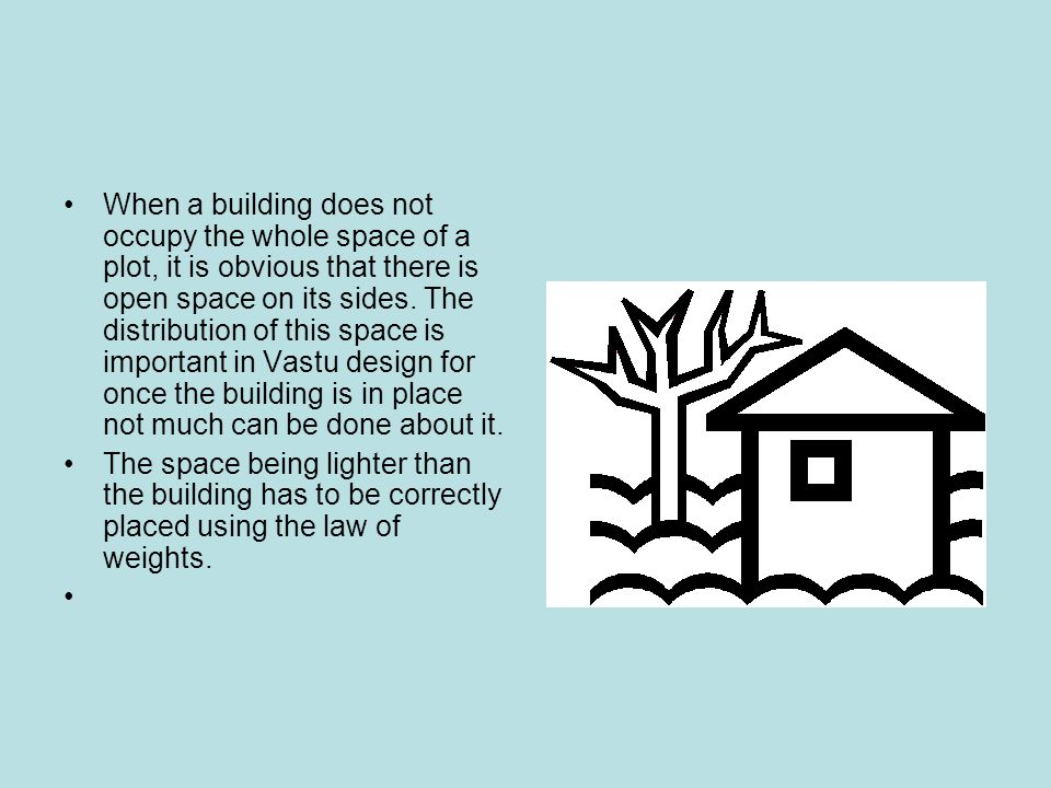 When a building does not occupy the whole space of a plot, it is obvious that there is open space on its sides.