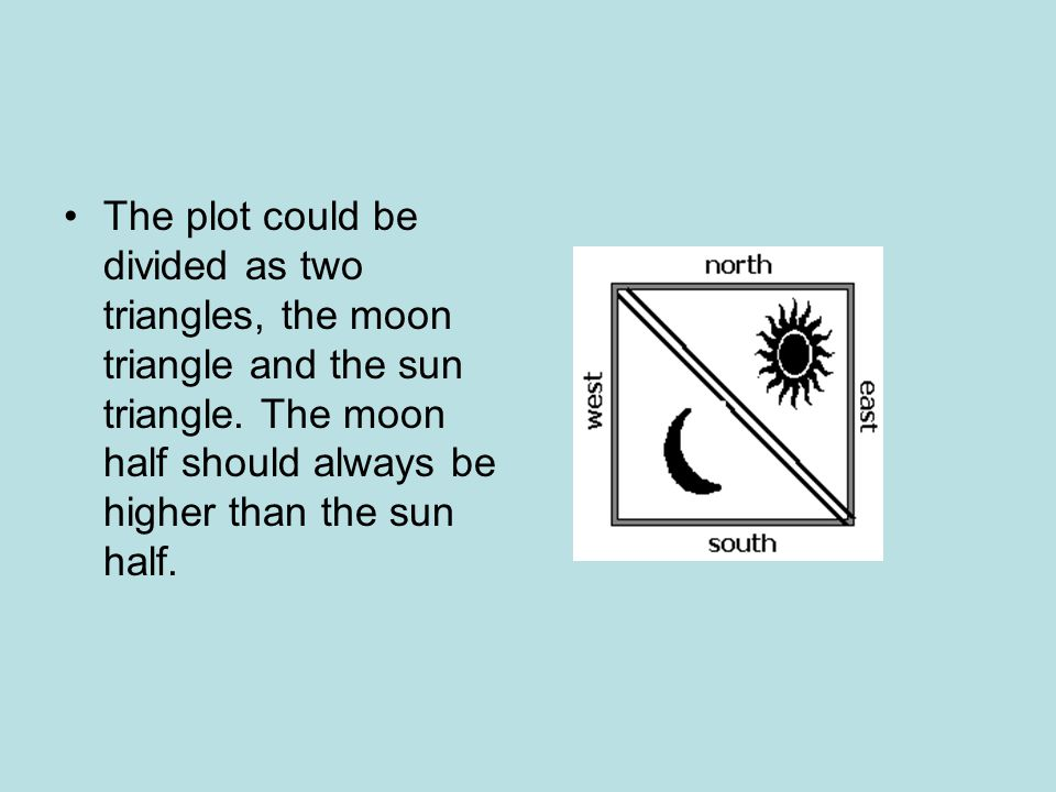 The plot could be divided as two triangles, the moon triangle and the sun triangle.