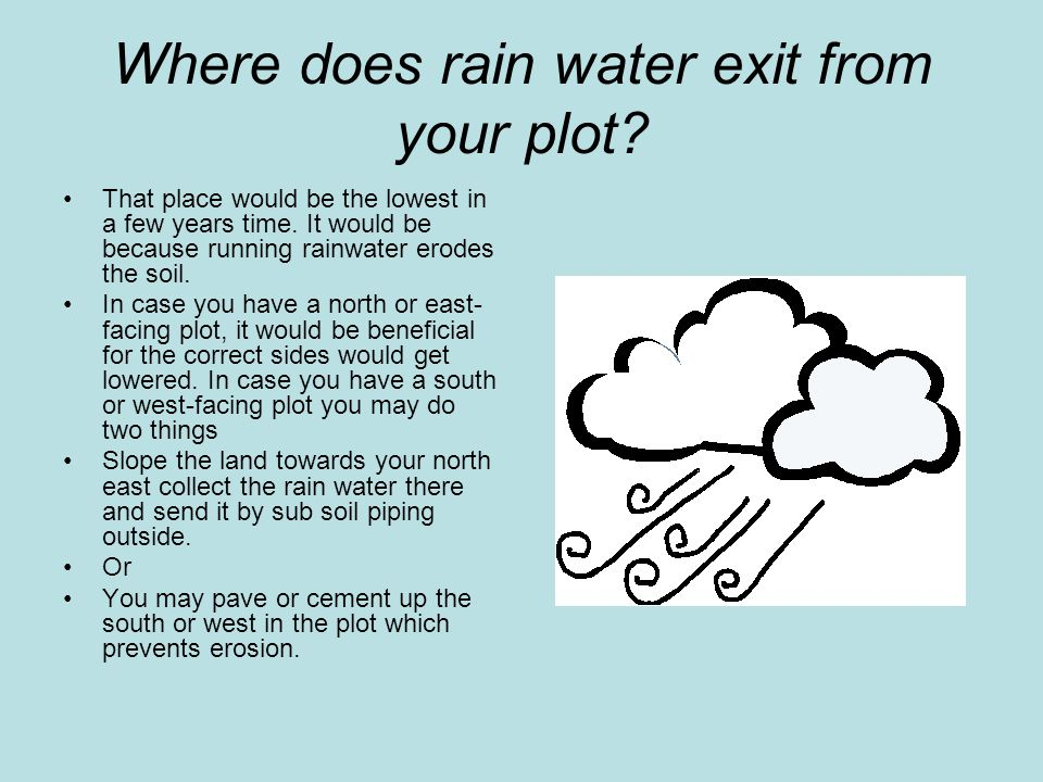 Where does rain water exit from your plot.That place would be the lowest in a few years time.