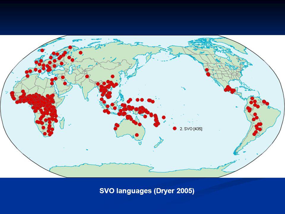 SVO languages (Dryer 2005)