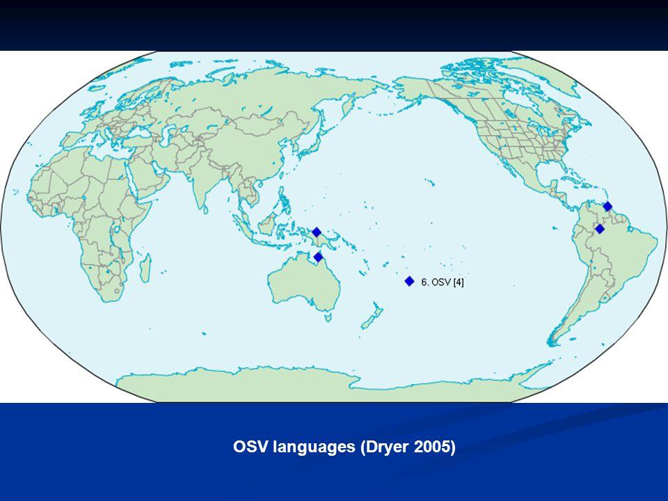 OSV languages (Dryer 2005)