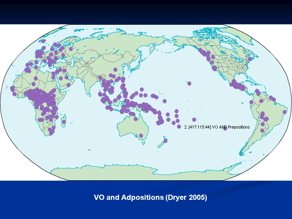 VO and Adpositions (Dryer 2005)