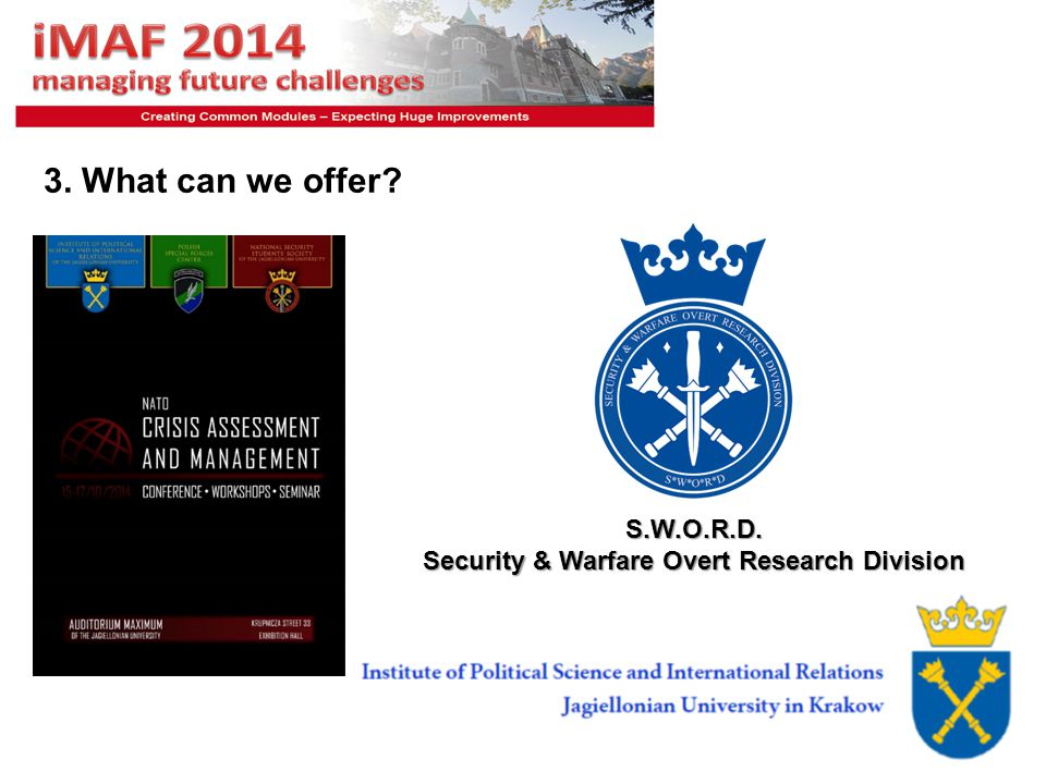 S.W.O.R.D. Security & Warfare Overt Research Division
