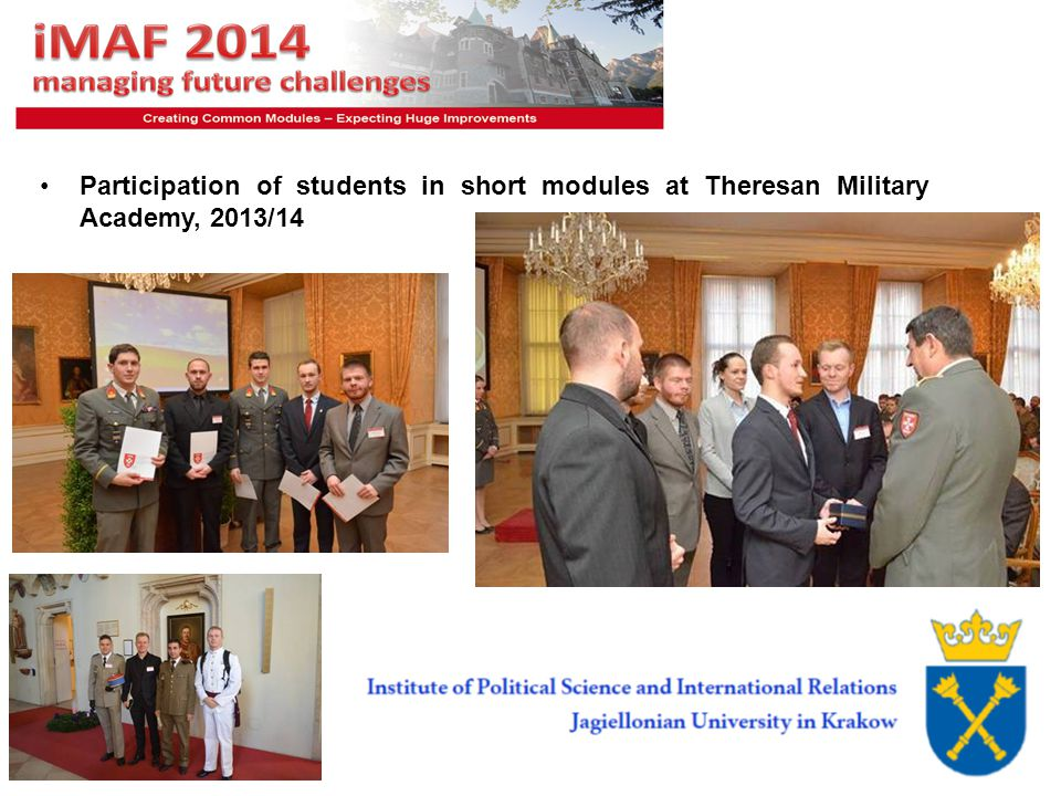 8 Participation of students in short modules at Theresan Military Academy, 2013/14
