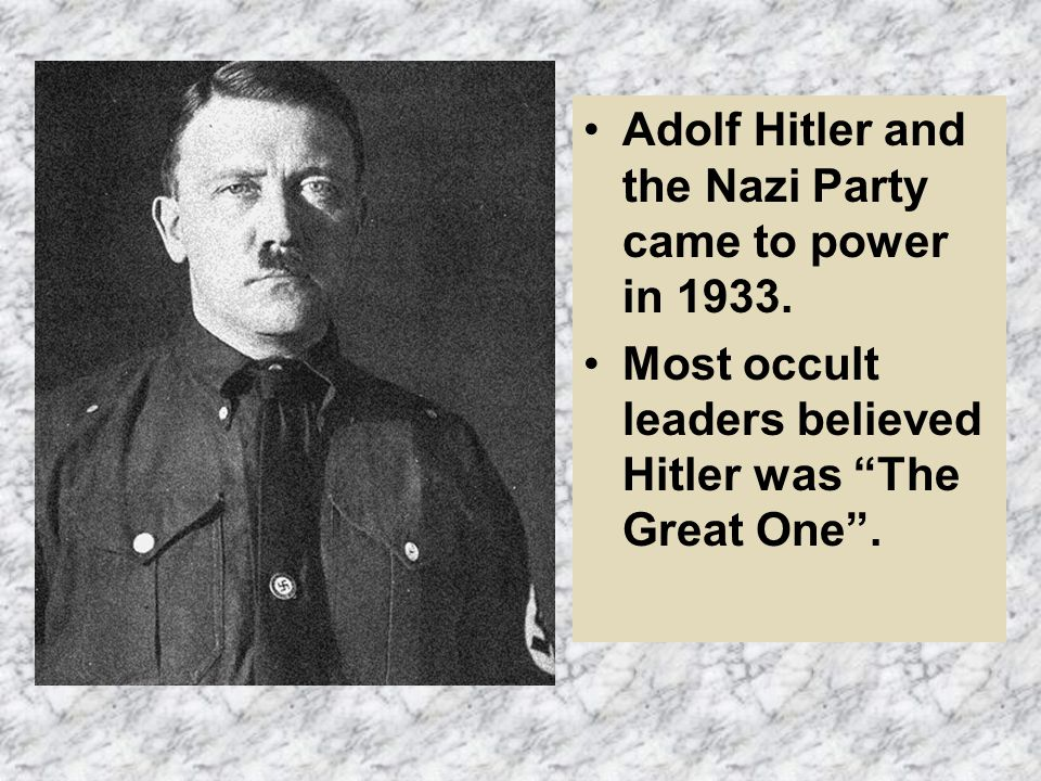 Hitler created more than a political regime - the Third Reich was an Occult- based Order using Magical and Esoteric (private; secret; confidential) practices.