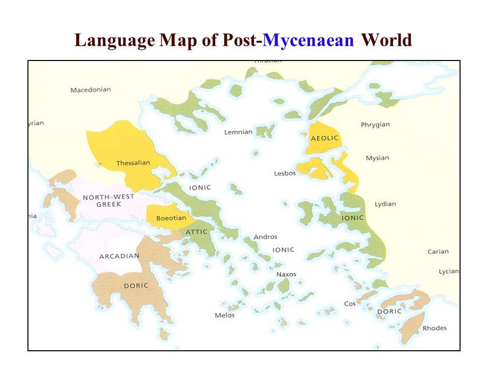 Language Map of Post-Mycenaean World