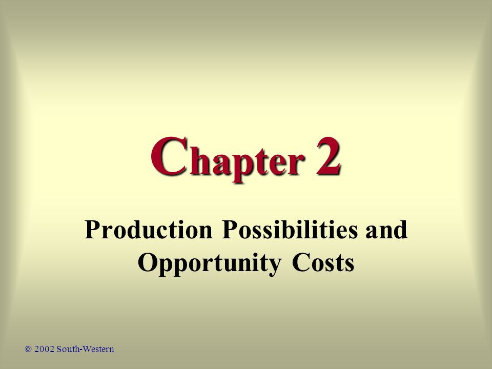 82 Chapter Review As more and more of a good – say, a consumption good – is produced, the quantity of the other good – say, a capital good – that must be given up to produce each additional consumption good increases.