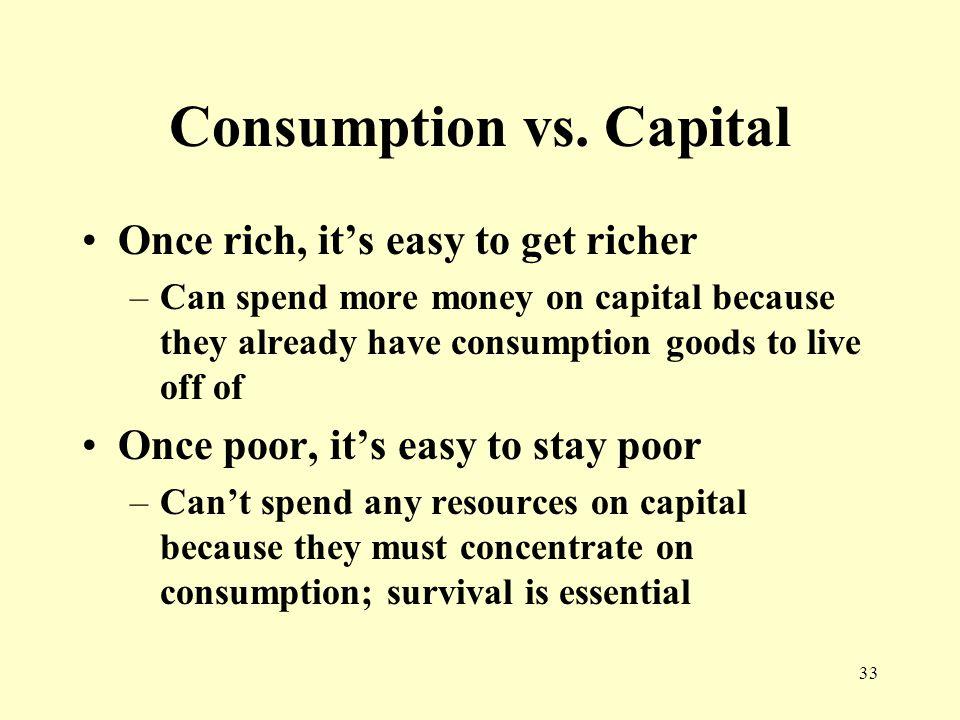 33 Consumption vs.