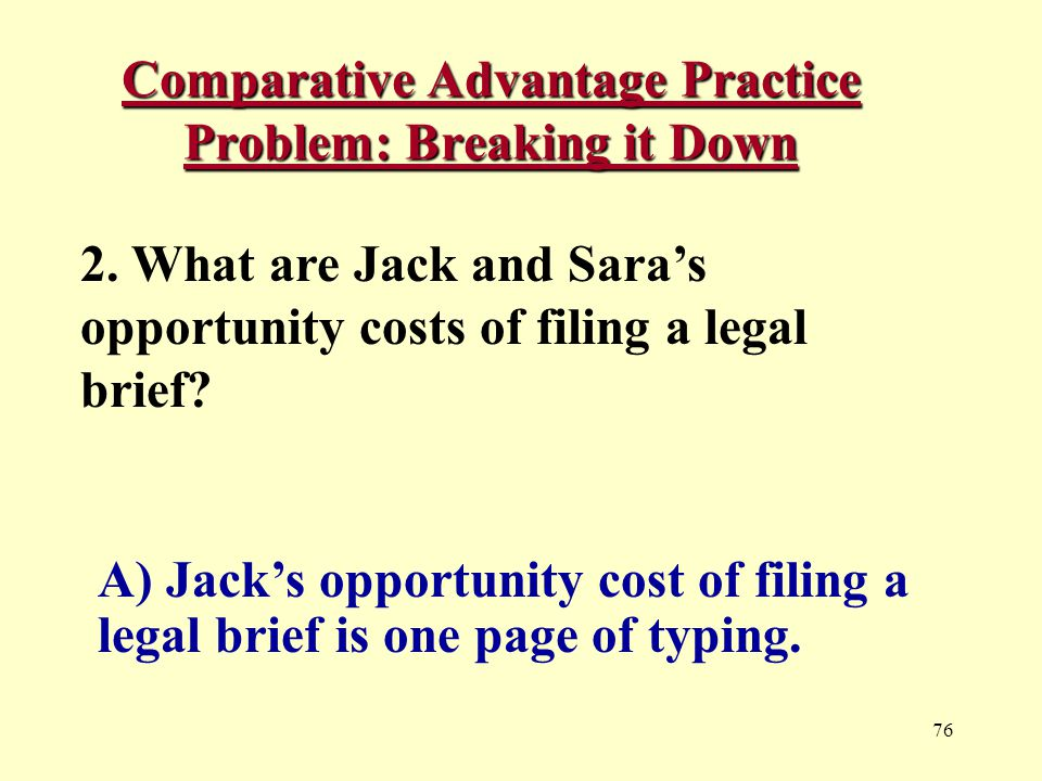 76 Comparative Advantage Practice Problem: Breaking it Down 2.