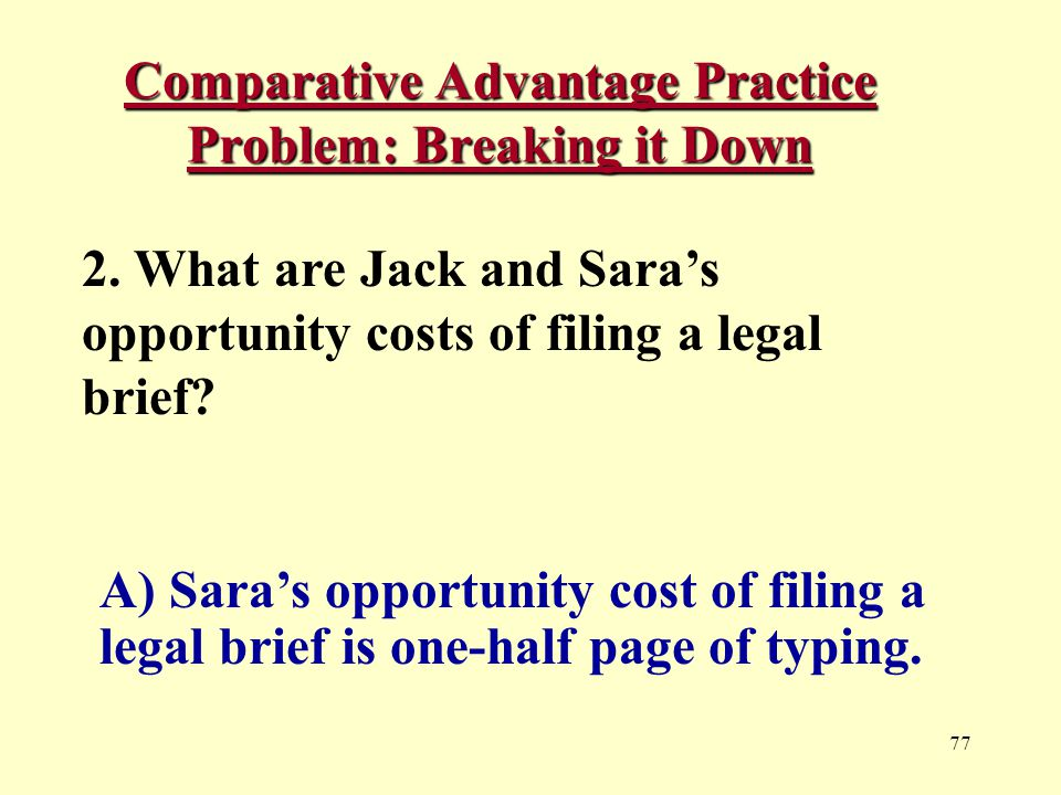 77 Comparative Advantage Practice Problem: Breaking it Down 2.