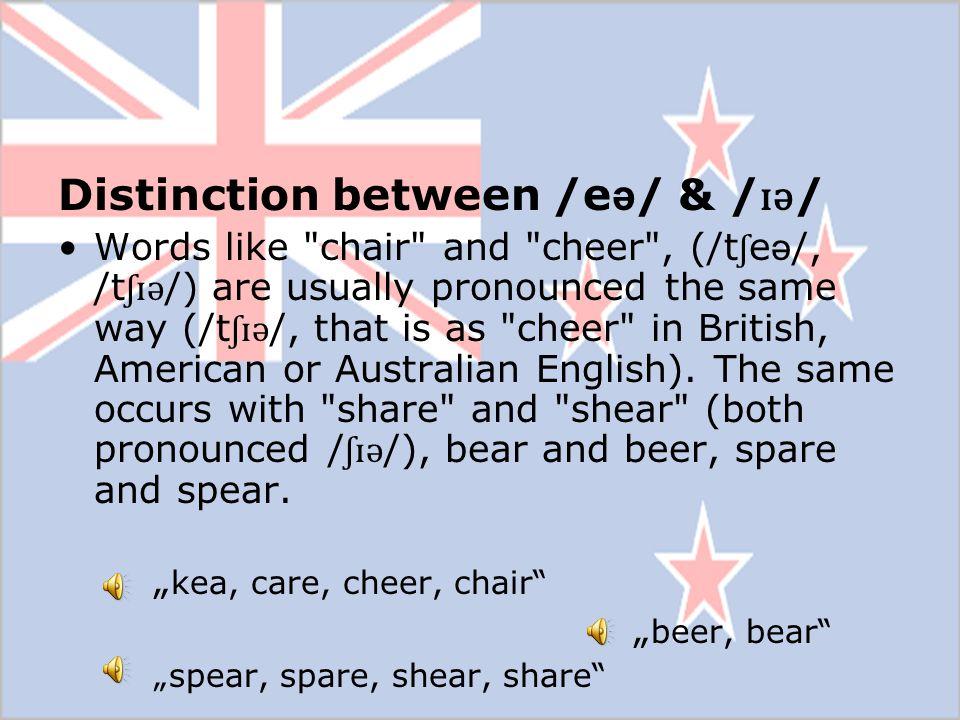 Distinction between /e ə / & / ɪ ə / Words like