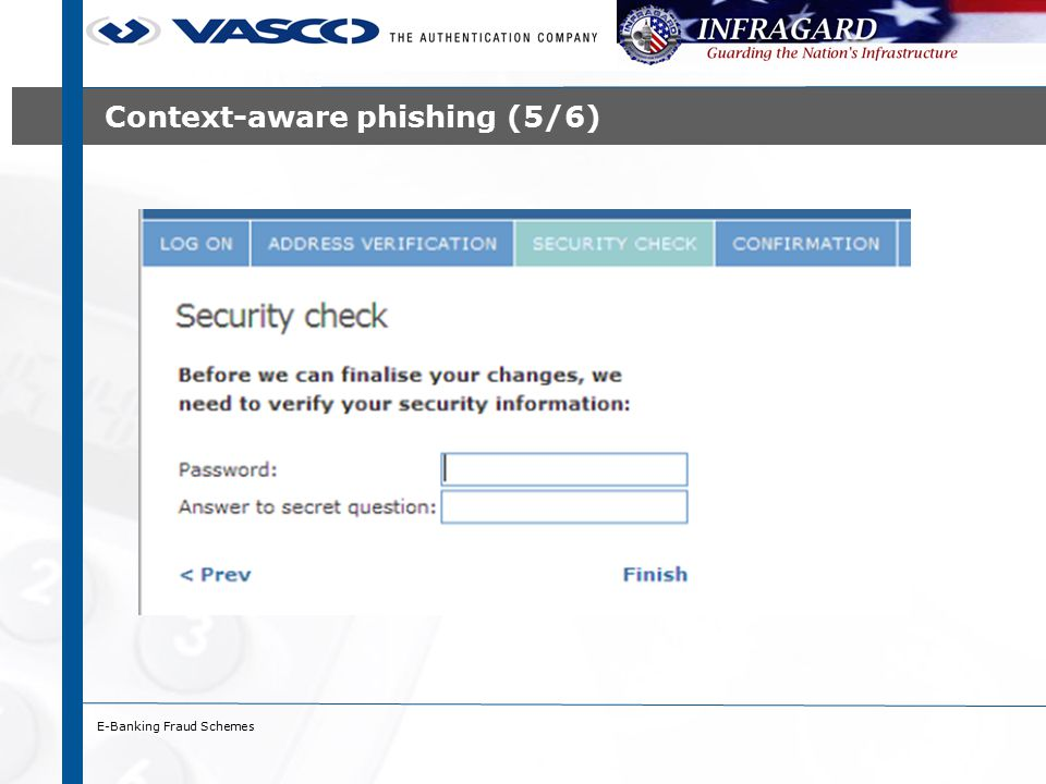 E-Banking Fraud Schemes Context-aware phishing (5/6)
