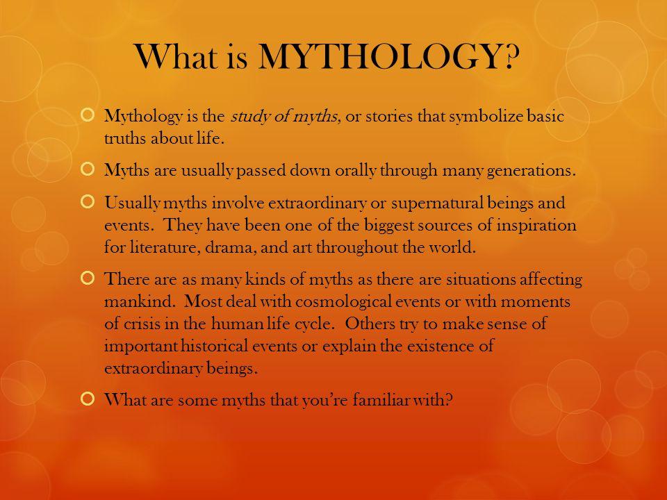 What is MYTHOLOGY.