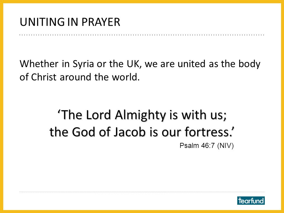 Whether in Syria or the UK, we are united as the body of Christ around the world.