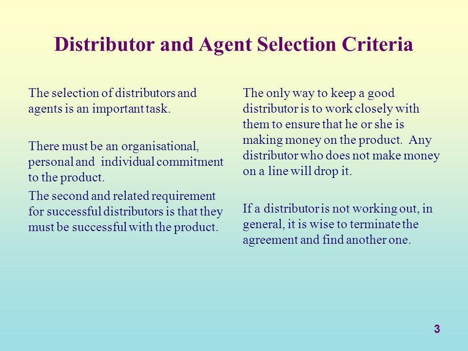 14 Business and Operational Criteria 10.