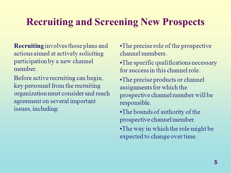6 Guidelines for Active Recruiting.