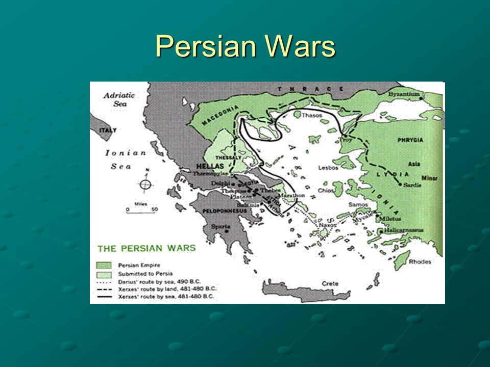 Battle of Marathon (490 BCE) Greece (led by Athens) vs Persia Athens appealed to Sparta for help Origin of the 'marathon' One of first recorded instances in which phalanx used Winner: Greece