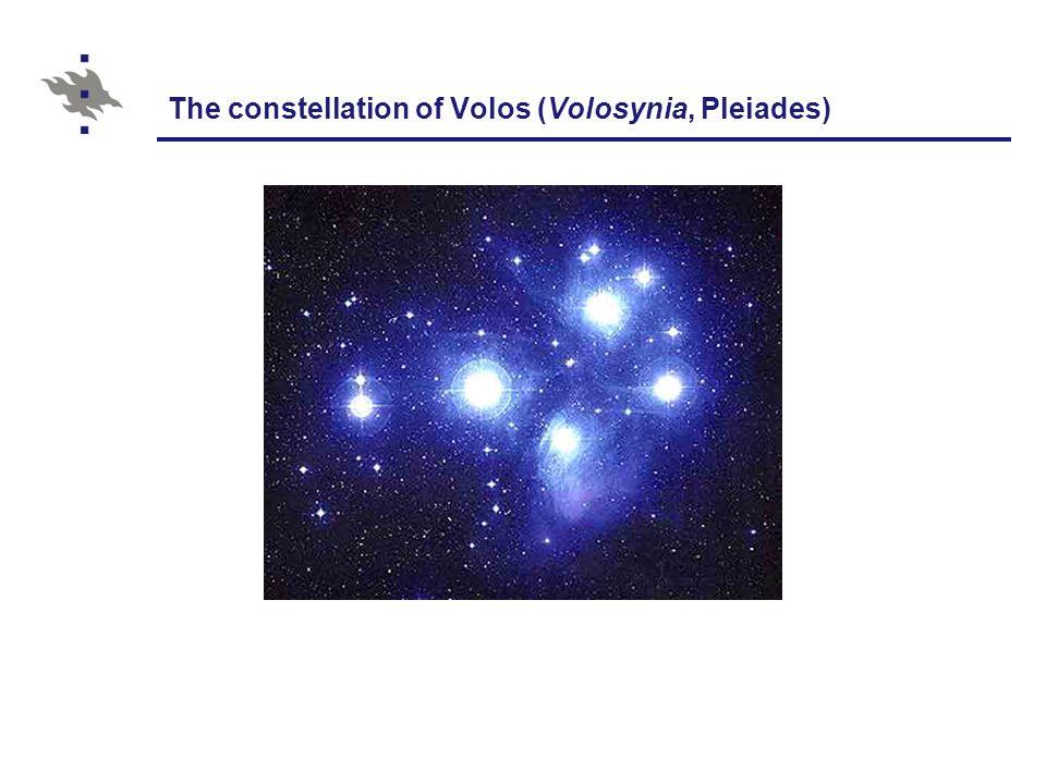 The constellation of Volos (Volosynia, Pleiades)