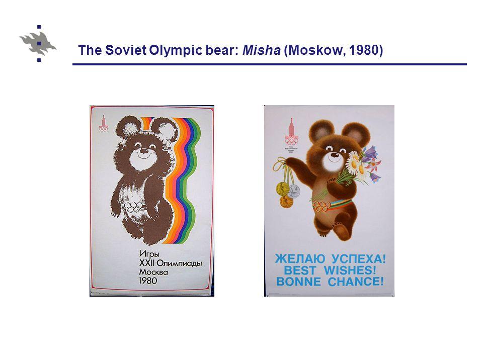 The Soviet Olympic bear: Misha (Moskow, 1980)