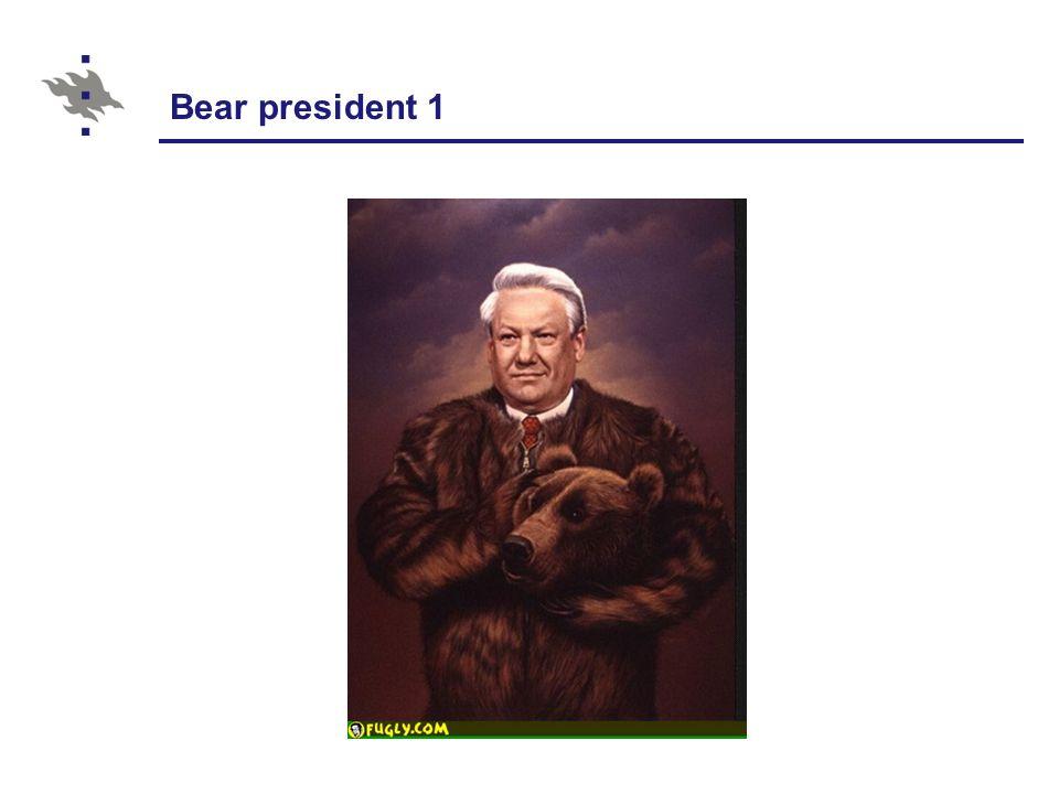 Bear president 1