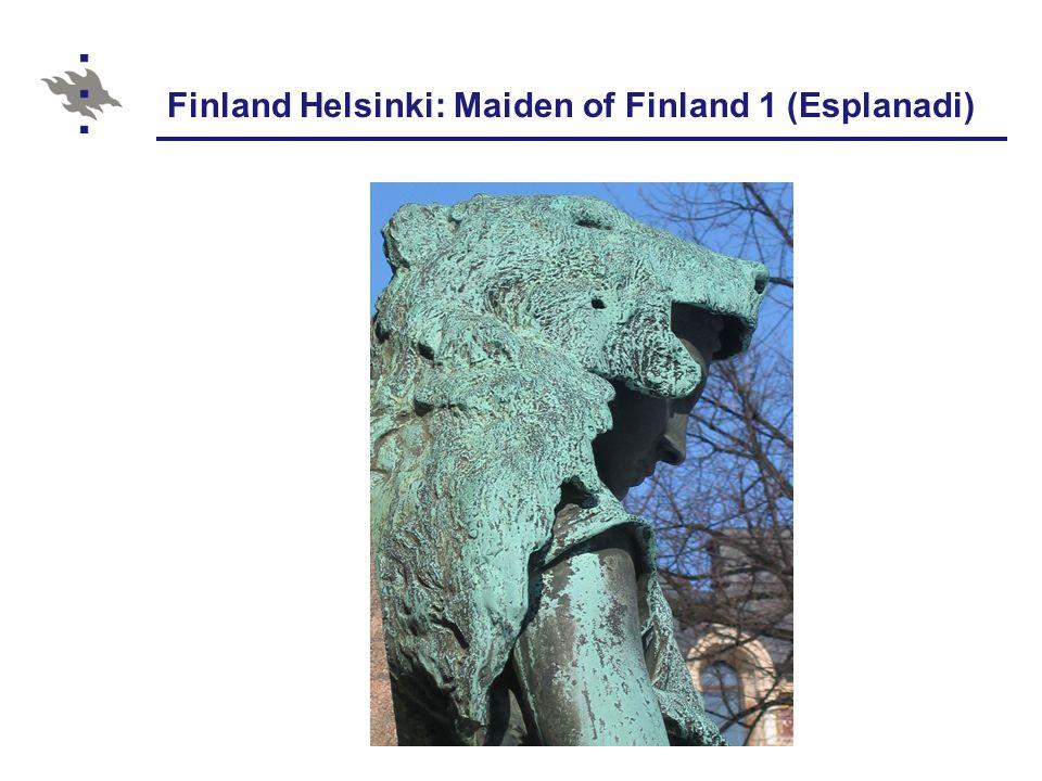 Finland Helsinki: Maiden of Finland 1 (Esplanadi)