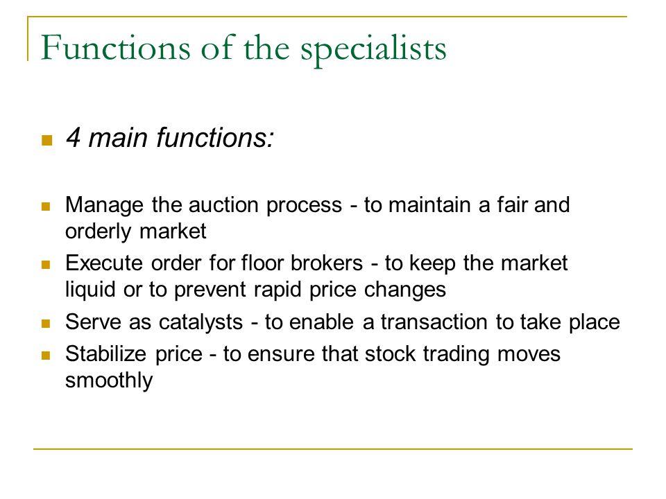 Big players Schwab (e-broker) Wachovia Securities (The fifth largest full service retail broker dealer) Spear, Leeds & Kellogg (Specialist)