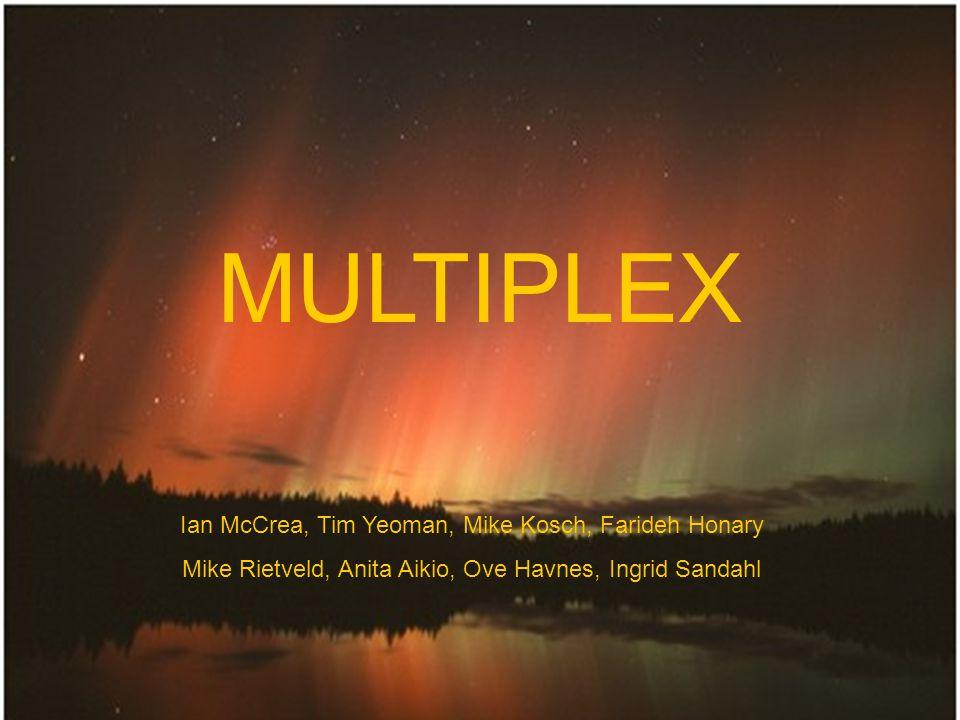 MULTIPLEX Ian McCrea, Tim Yeoman, Mike Kosch, Farideh Honary Mike Rietveld, Anita Aikio, Ove Havnes, Ingrid Sandahl