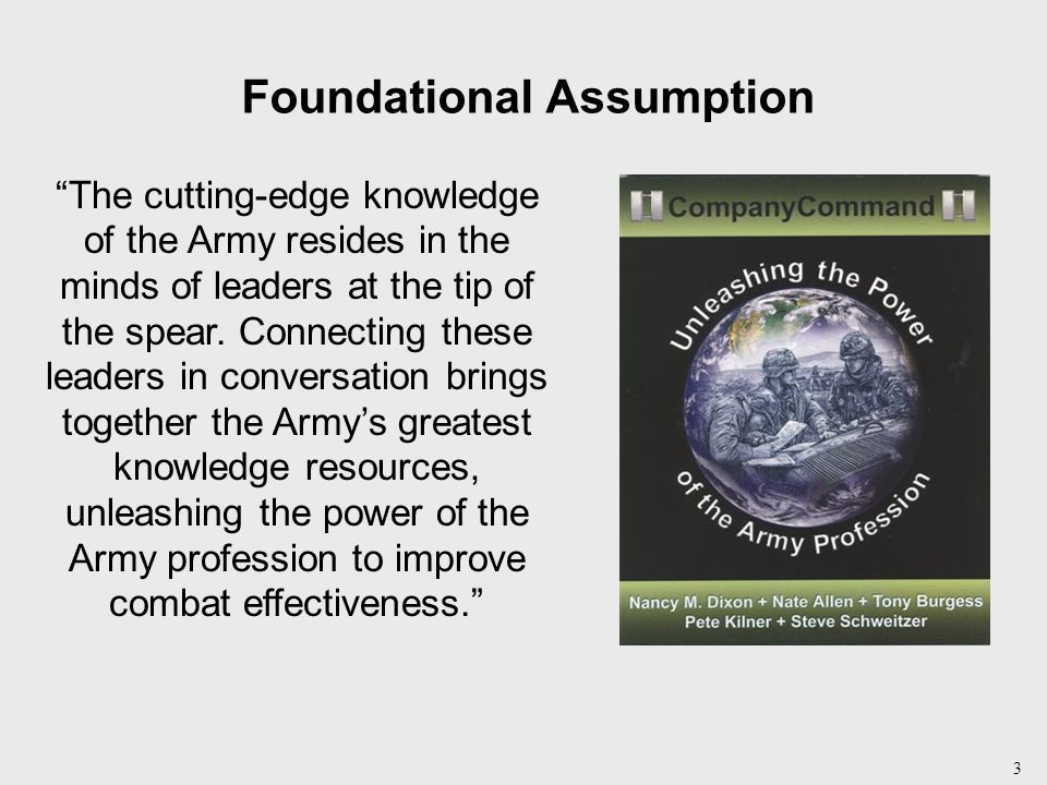 4 Professional Forums Connecting leaders in conversation about leading combat-ready teams.