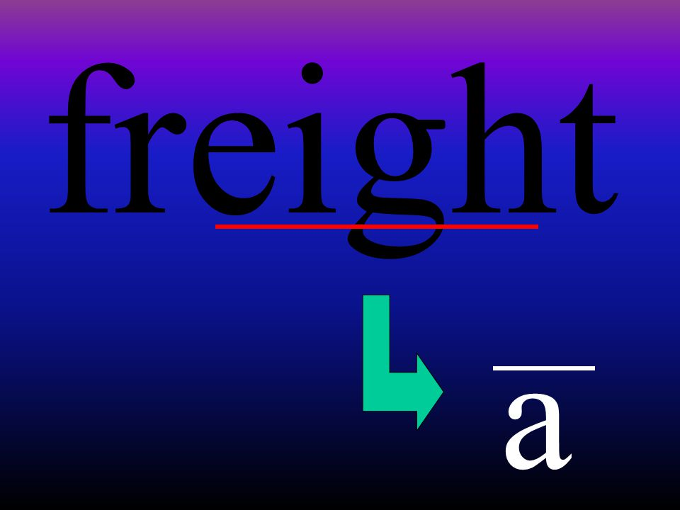 freight a