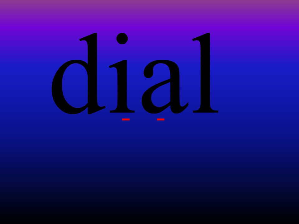 dial
