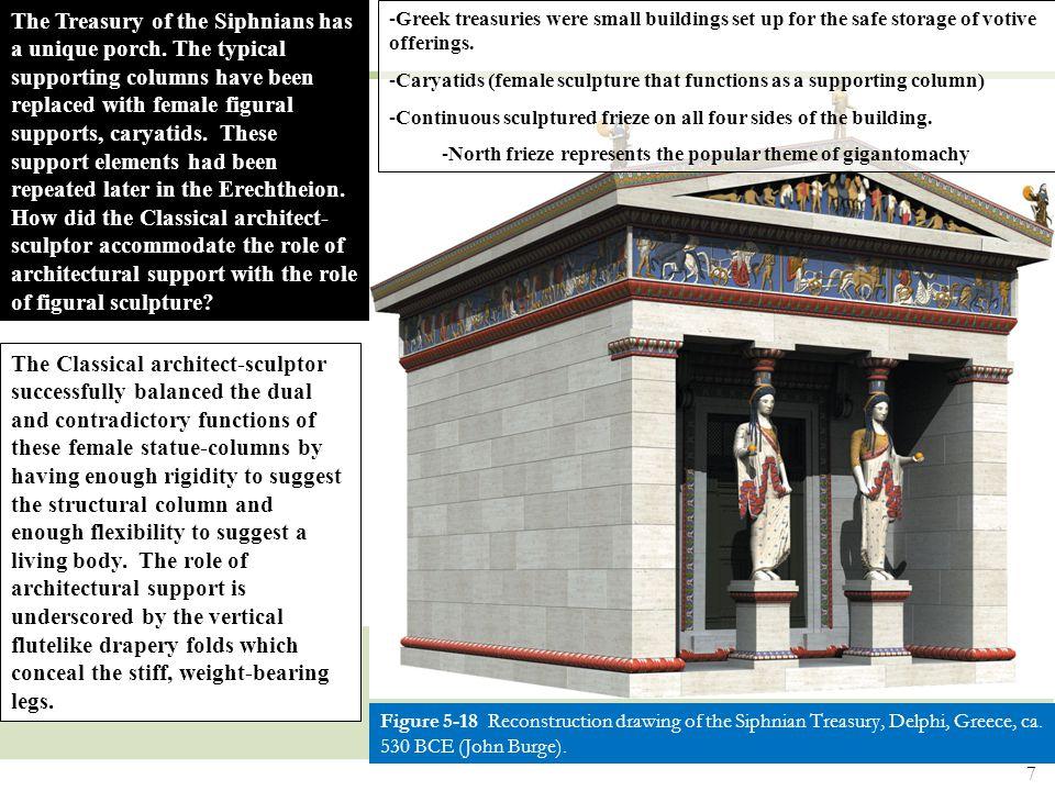 7 Figure 5-18 Reconstruction drawing of the Siphnian Treasury, Delphi, Greece, ca.