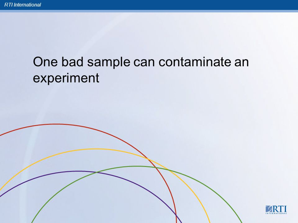 RTI International One bad sample can contaminate an experiment