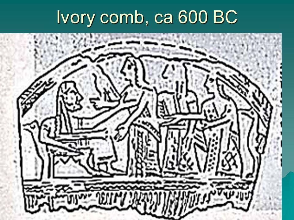 Ivory comb, ca 600 BC