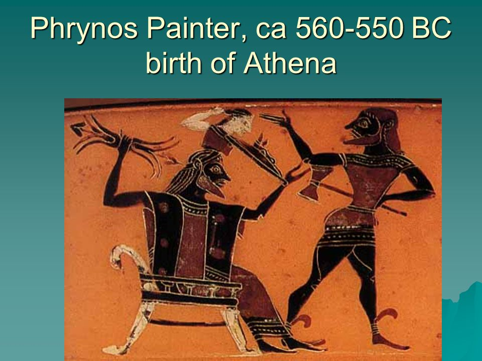 Phrynos Painter, ca 560-550 BC birth of Athena