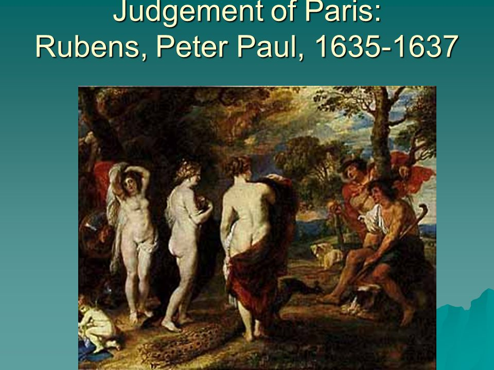 Judgement of Paris: Rubens, Peter Paul, 1635-1637