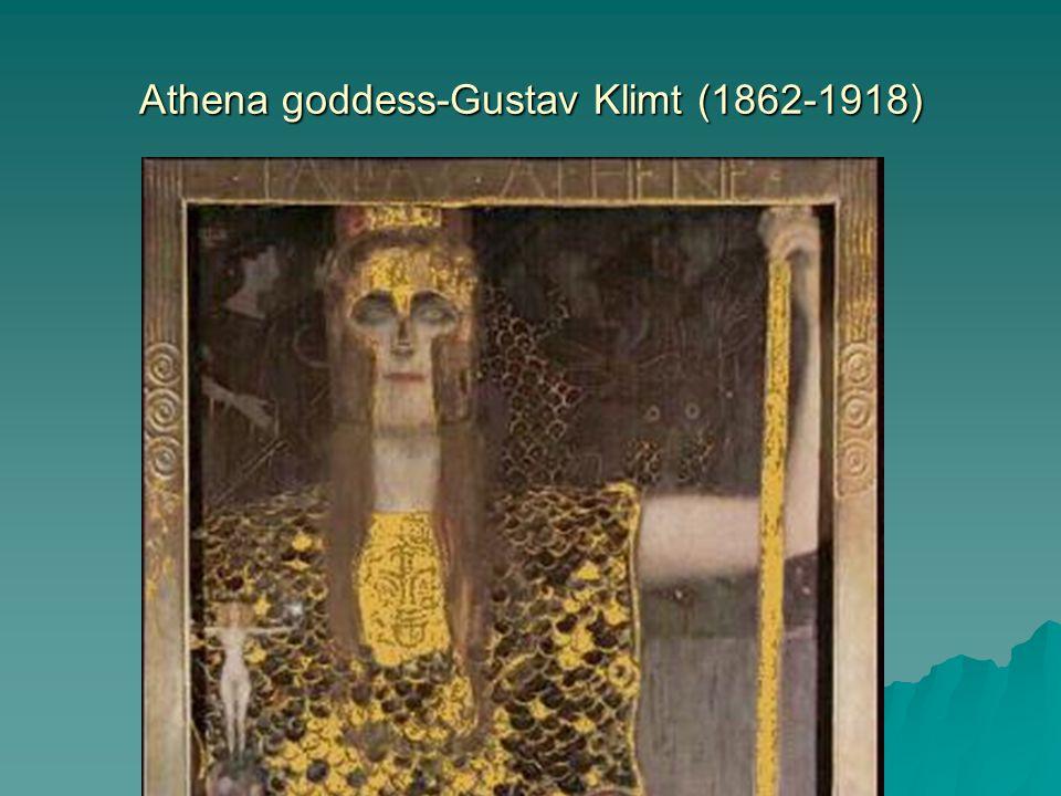 Athena goddess-Gustav Klimt (1862-1918)