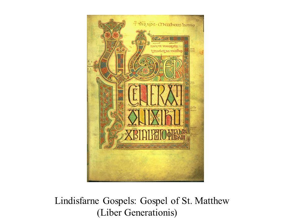 Lindisfarne Gospels: Gospel of St. Matthew (Liber Generationis)