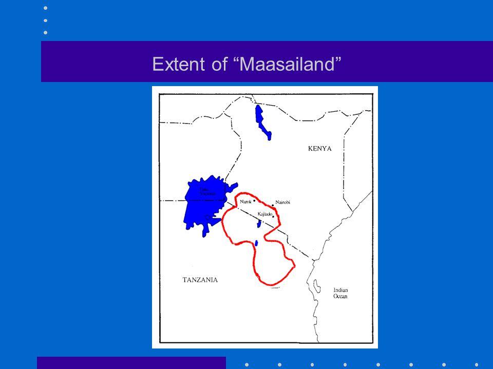 """Extent of """"Maasailand"""""""
