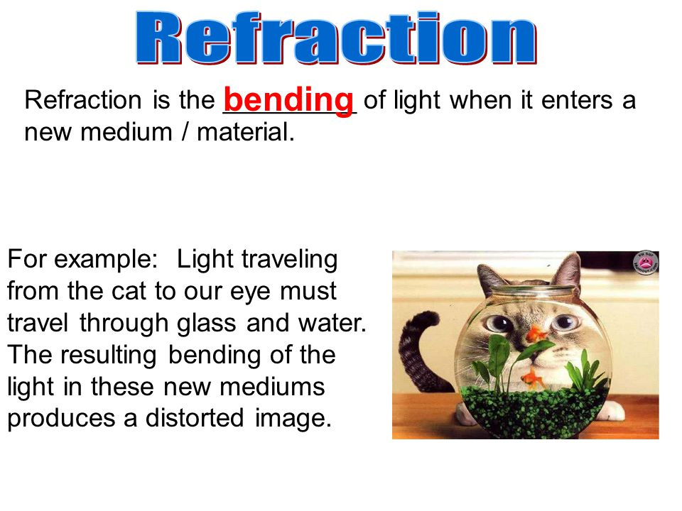So, what causes light to bend when it travels into a new medium.