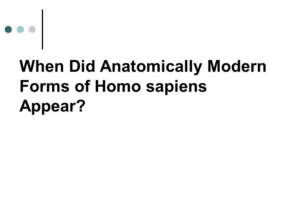 The Human Origins Debate Some propose that Neandertals, evolved into anatomically modern versions of Homo sapiens as different features of modern anatomy were carried to them through gene flow.