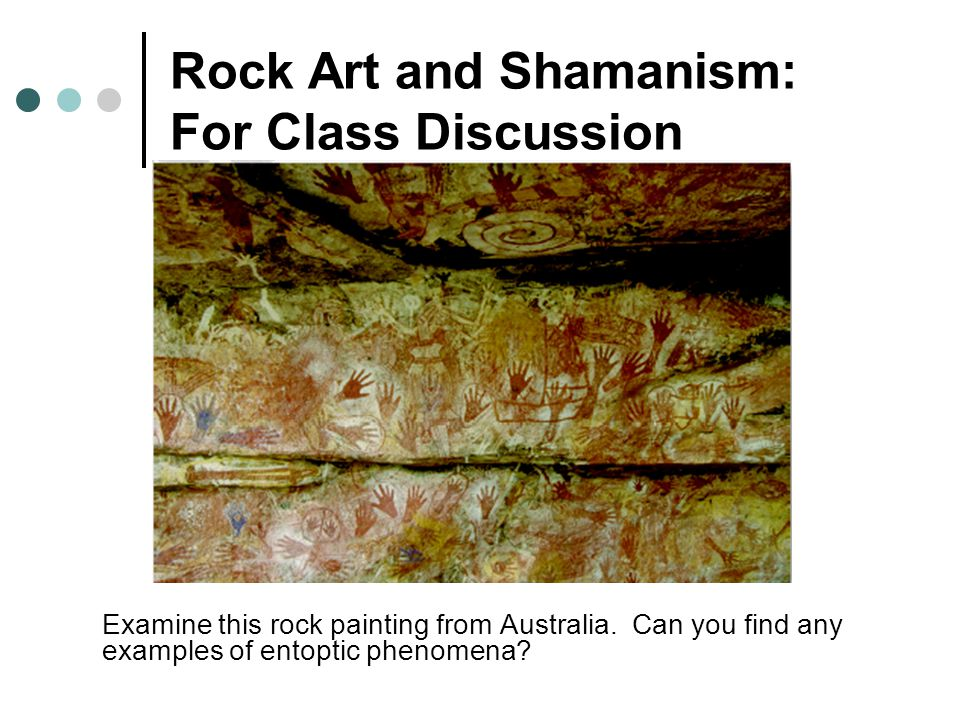 Rock Art and Shamanism: For Class Discussion Examine this rock painting from Australia.