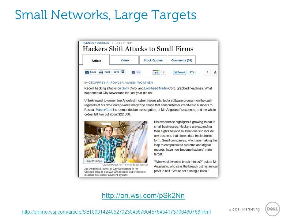 Global Marketing Small Networks, Large Targets http://online.wsj.com/article/SB10001424052702304567604576454173706460768.html http://on.wsj.com/pSk2Nn
