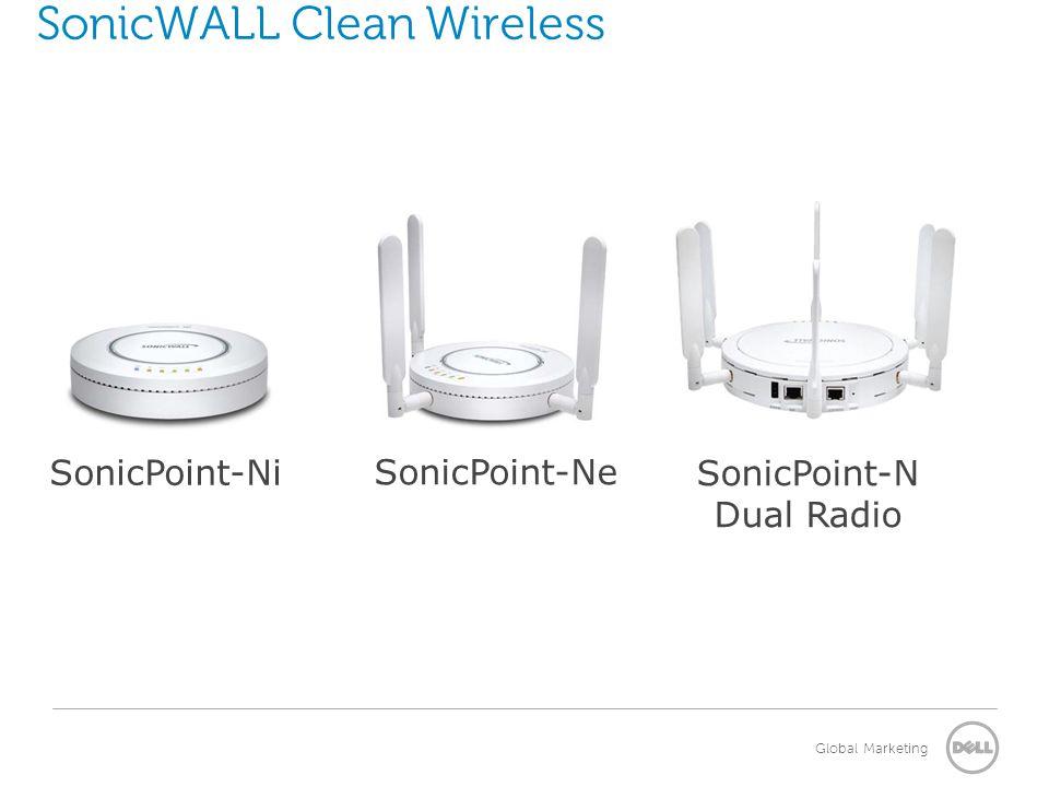 Global Marketing SonicWALL Clean Wireless SonicPoint-Ni SonicPoint-Ne SonicPoint-N Dual Radio